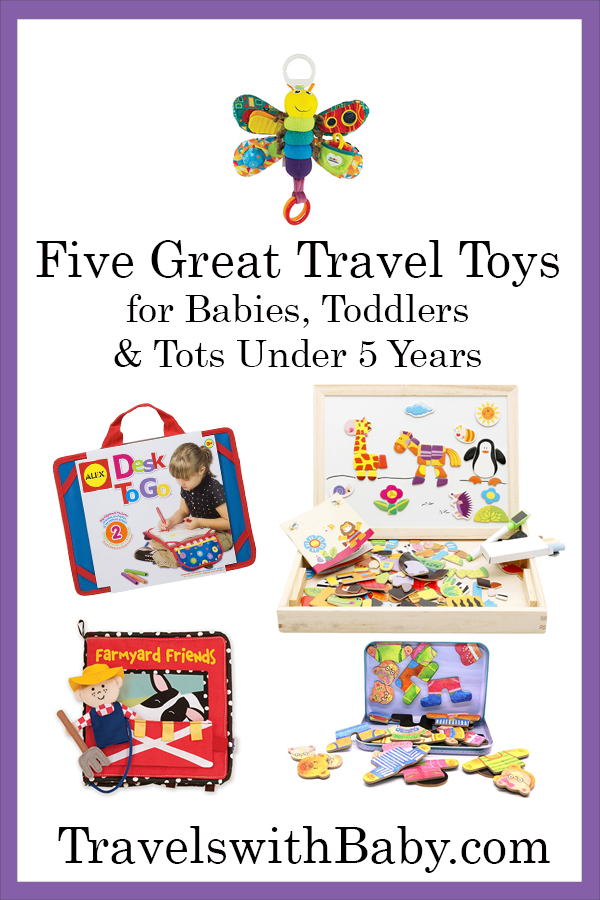 Travel toys for kids under 5.