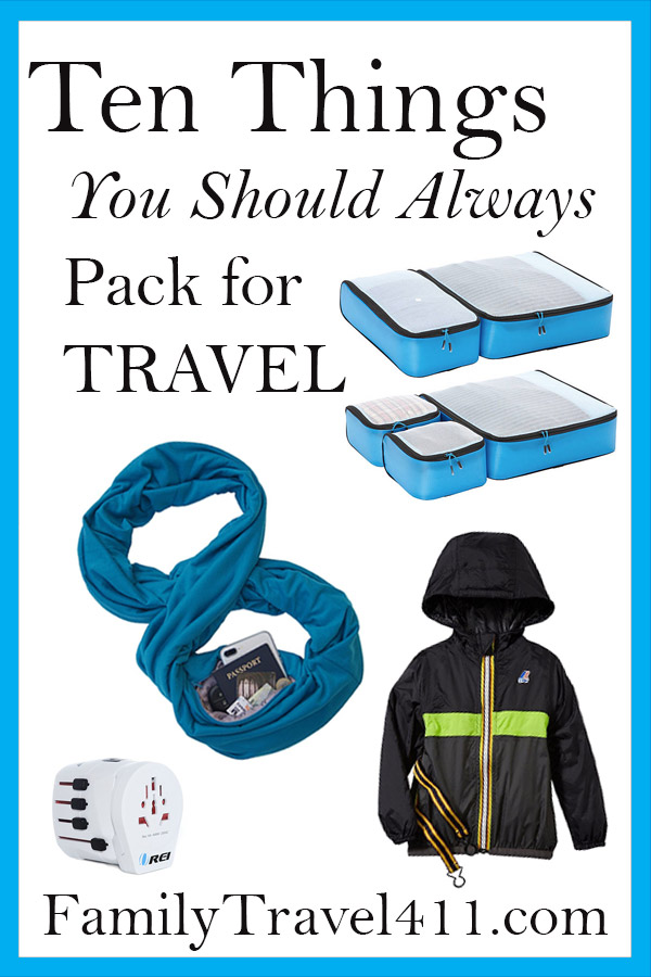 Five things you should always pack for family travel