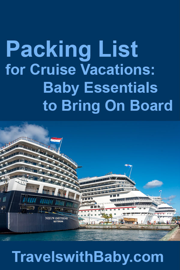 list of what to pack for a cruise with a baby