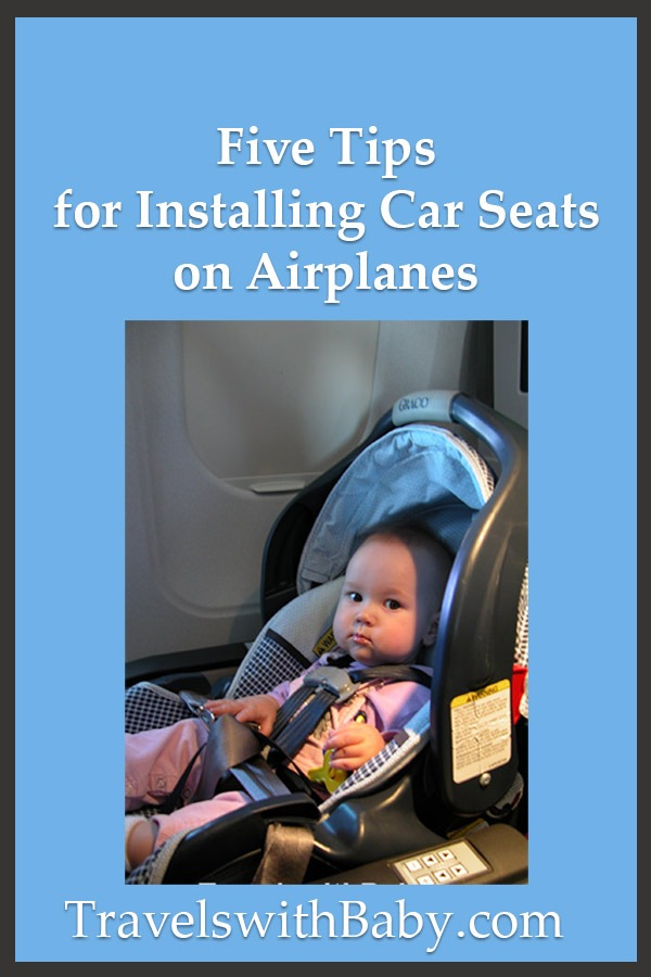 tips for installing car seats on airplanes
