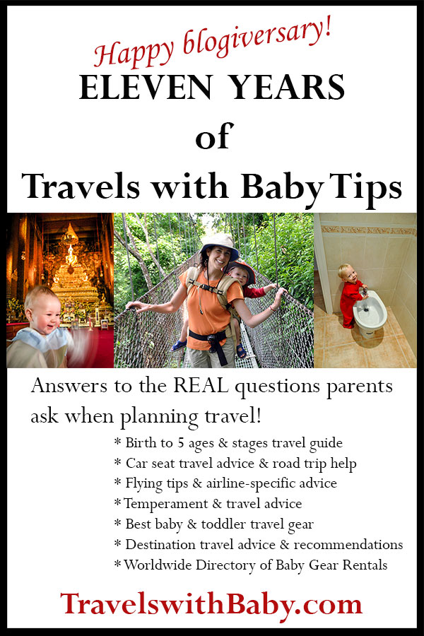 Eleven years of Travels with Baby tips and resources