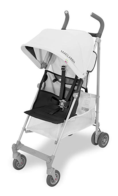 Maclaren volo travel stroller in silver black