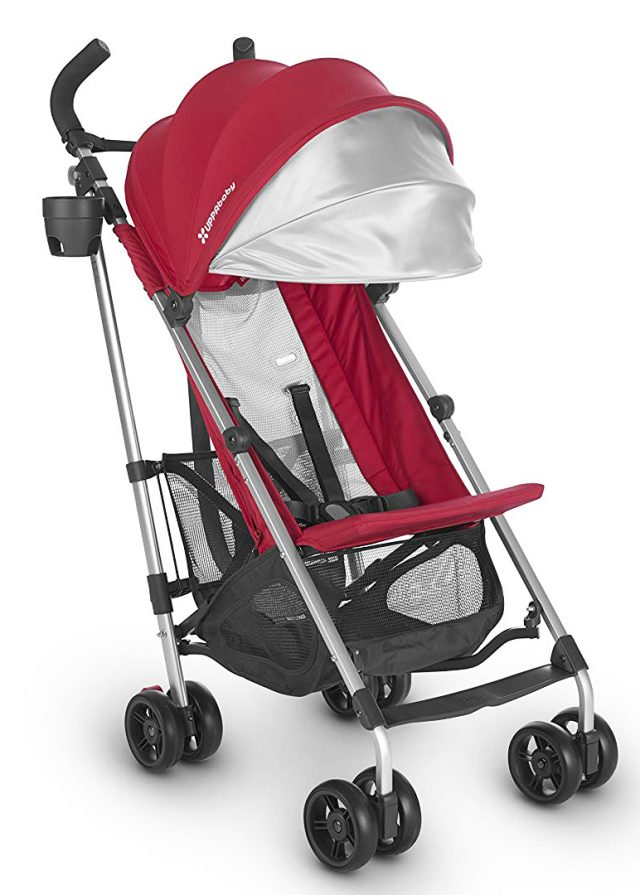 Uppa baby Glite travel stroller in red