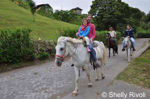 horseback riding in Costa Rica with kids at Arenal Lodge