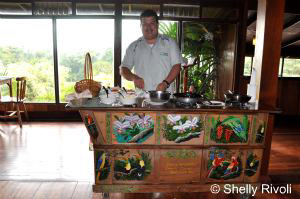 custom made to order omelets at Arenal Lodge in Costa Rica