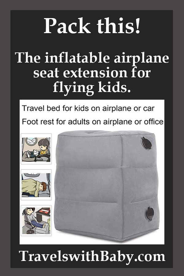 inflatable seat extension for flying kids
