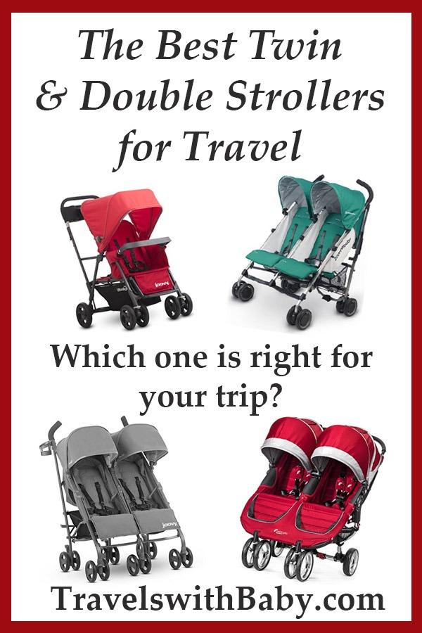 best twin strollers and double strollers for travel