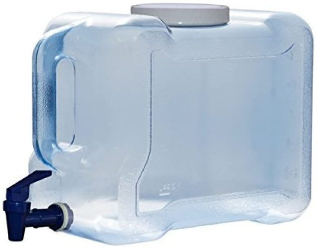 3 gallon water container for road trip