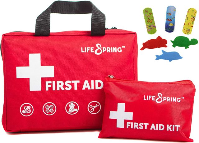 road trip first aid kit with travel kit
