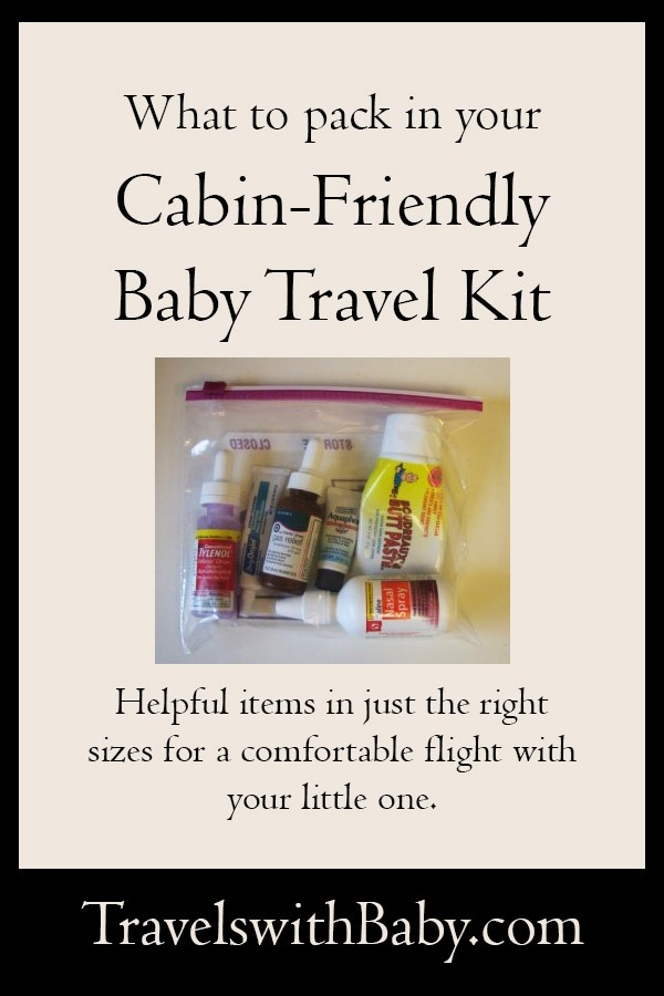 what to pack in a baby travel kit for airplane