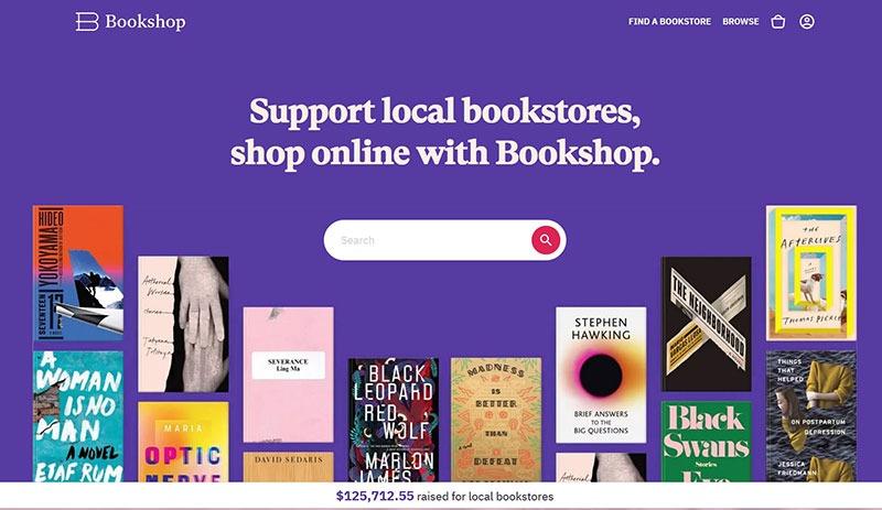 bookshop.org landing page
