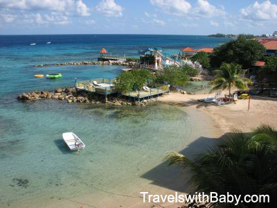 Caribbean waters at Franklyn D Resort on Runaway Bay, Jamaica