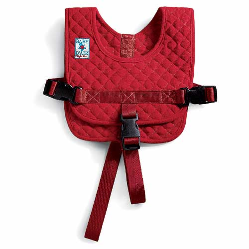Baby B'Air flight safety vest for air travel with lap-held infants and toddlers