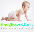Logo for baby gear rental in Barcelona, AKA equipment hire