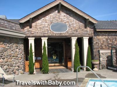 The pool and spa entrance at Bodega Bay Lodge and spa