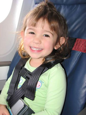 The CARES harness for kids on airplanes in their own seats by Kids Fly Safe