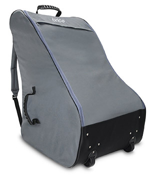 The Brica Cover Guard car seat travel bag with backpack straps