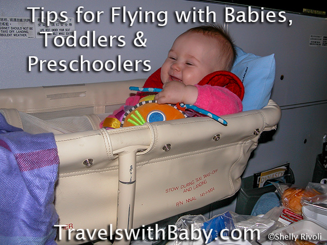Tips for flying with babies, toddlers and preschoolers from Travels with Baby