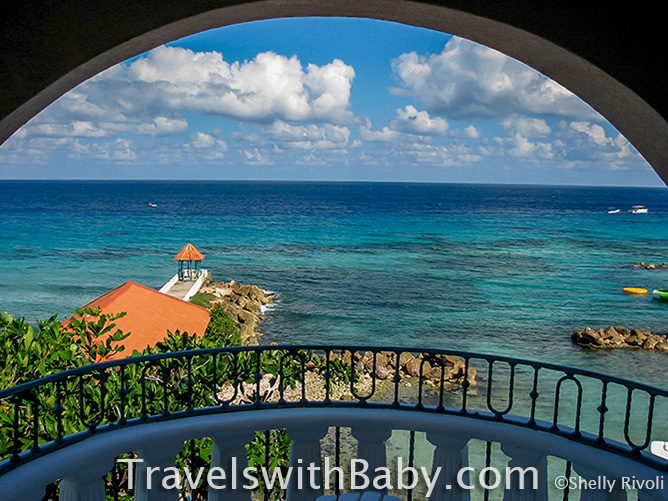 View from a balcony at Franklyn D. Resort & Spa in Runaway Bay, Jamaica