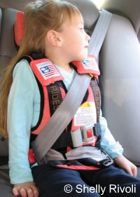 The RideSafer travel vest for use in vehicles
