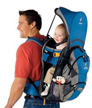 The Deuter Kangakid backpack and child carrier in one