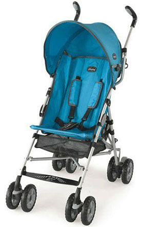 The Chicco Capril lightweight travel stroller in Topazio blue