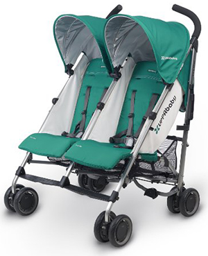 UPPAbaby G-link twin stroller for travel