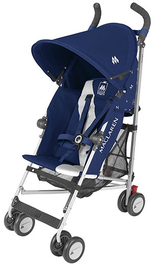 Maclaren Triumph travel stroller in blue