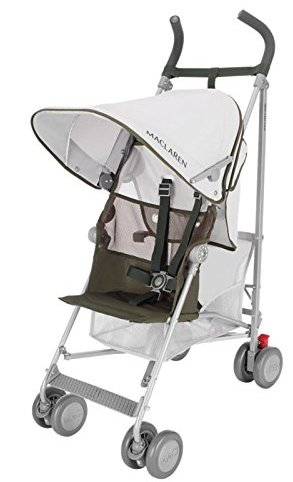 The Maclaren Volo travel stroller in silver or gray