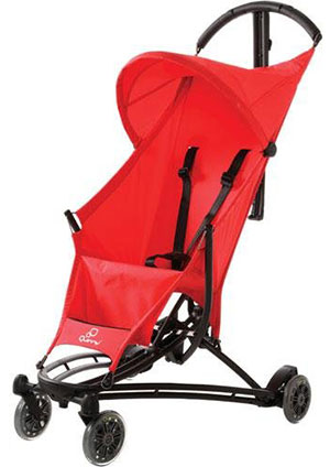 The Quinny Yezz travel stroller in red