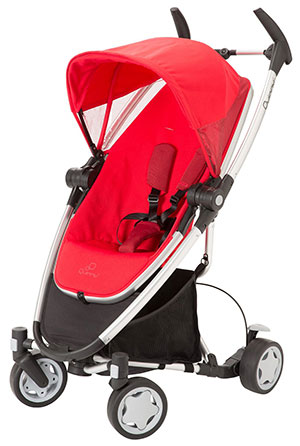 Quinny Zapp Xtra lightweight travel stroller in red