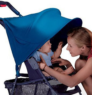 RayShade extended shade cover for strollers