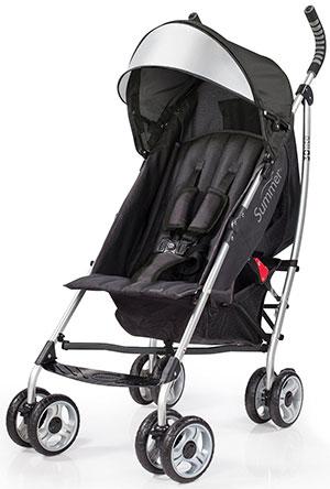 Summer Infant 3D lite travel stroller in silver/gray